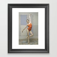 Contemporary Ballet Danc… Framed Art Print