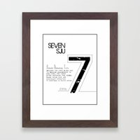 Seven Framed Art Print