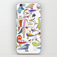 Birds. bird, pattern, animals, kids, art, design, illustration,  iPhone & iPod Skin