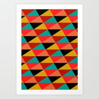 Ternion Series: Wintertide Jubilee Motif Art Print
