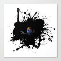 Blue Clapton Canvas Print