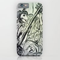 iPhone & iPod Case featuring GEISHA MUSICIAN by JANUARY FROST