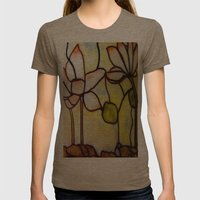 Stained Glass Womens Fitted Tee Tri-Coffee SMALL