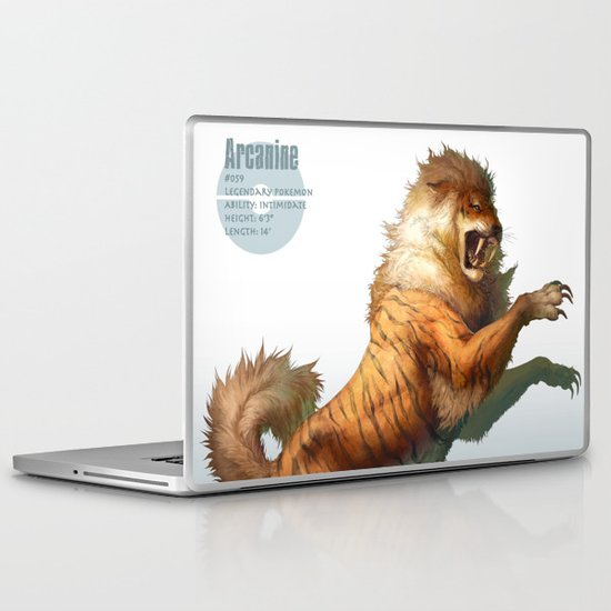 Pokemon-Arcanine Laptop & iPad Skin