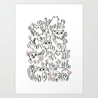 Kitty Forest Art Print