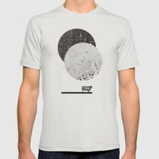 Calculating A Jump Over … Mens Fitted Tee Silver SMALL