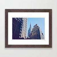 An Empire Through The Trees Framed Art Print