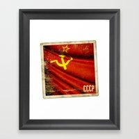 Sticker Of Soviet Union … Framed Art Print