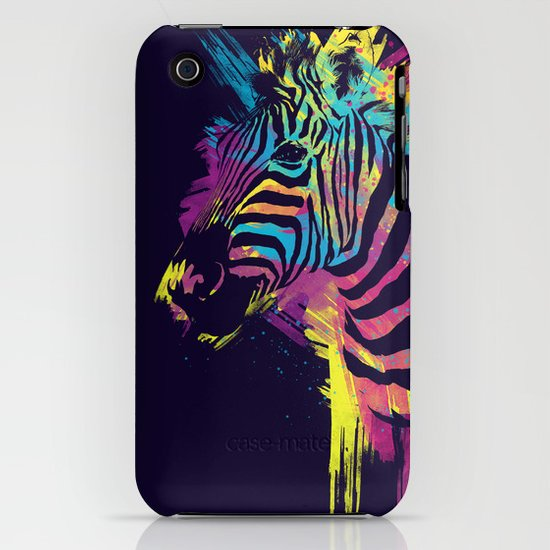 Zebra Splatters iPhone & iPod Case
