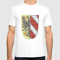 Nuremberger Heraldry Watercolor Mens Fitted Tee White SMALL