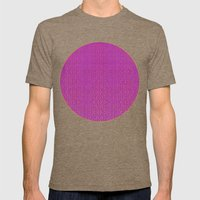 Purple Tribal Pattern Mens Fitted Tee Tri-Coffee SMALL