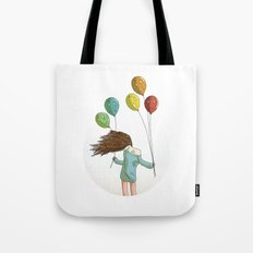 Baloons on wind Tote Bag