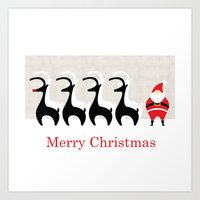 Merry Christmas From San… Art Print