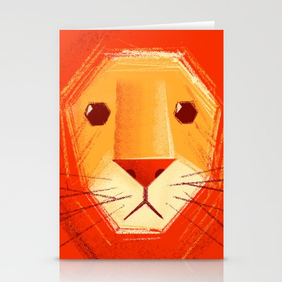 Sad lion Stationery Card