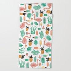 Flamingo Love Beach Towel