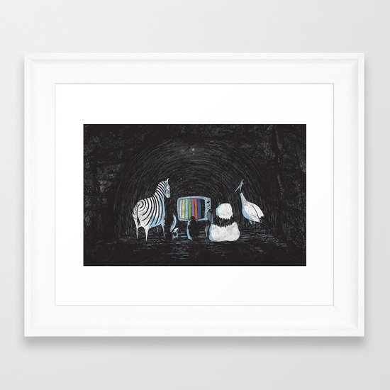 Now in Technicolour... Framed Art Print