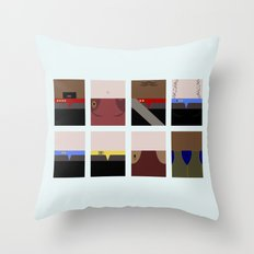 DS9  Characters - Minima… Throw Pillow