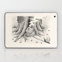 'A Visitor' (Grey) Laptop & iPad Skin