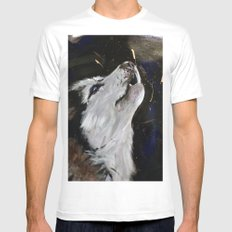 Howling Husky Mens Fitted Tee White SMALL