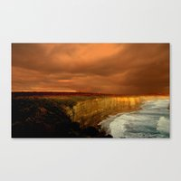 Reflections of a Setting Sun Canvas Print