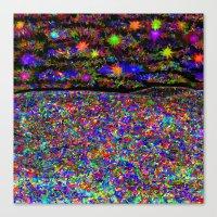 Rainbow Iridescent Stain… Canvas Print