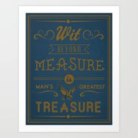 Wit Beyond Measure Is Ma… Art Print
