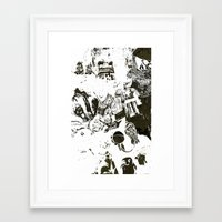 Framed Art Print featuring Who by Eternal