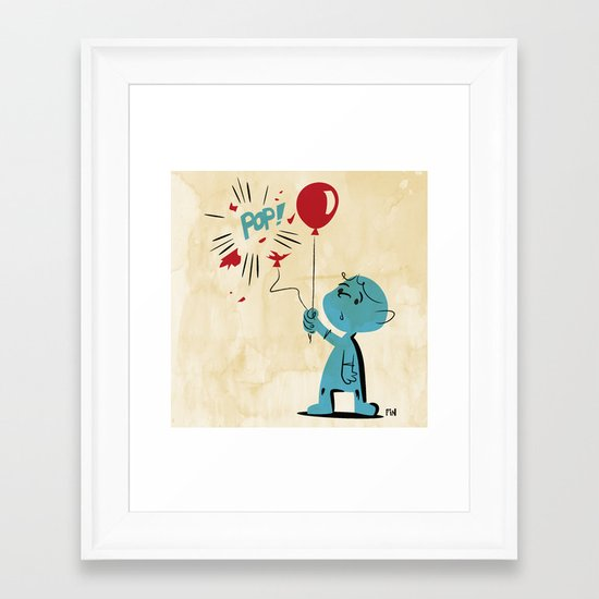 A Picture to Draw When I'm Sad Framed Art Print