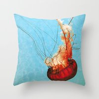 Sea Jelly Throw Pillow