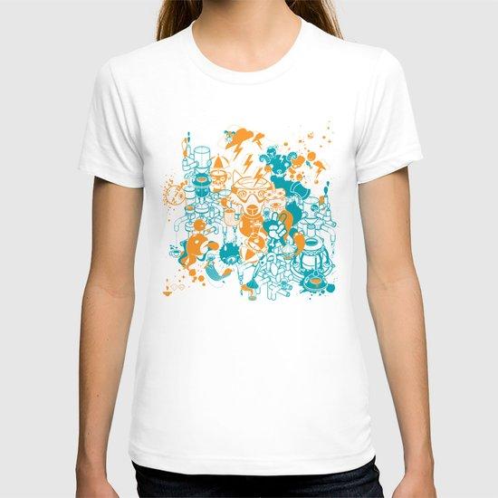 Dream Factory Orange and Blue T-shirt