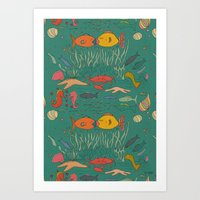 Fishy Kisses Art Print
