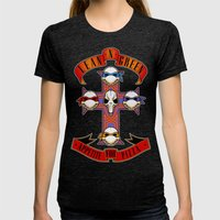 Appetite For Pizza Womens Fitted Tee Tri-Black SMALL