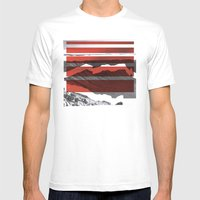 Red Terrain Mens Fitted Tee White SMALL
