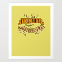 Leslie Knope, Yellow Art Print