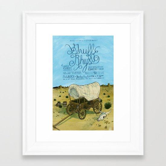 Gruff Rhys poster Framed Art Print