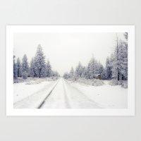 Bend Blizzard Art Print