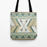 Aztec Pattern Arrows  Tote Bag
