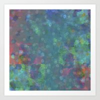 Blue And Green Abstract … Art Print