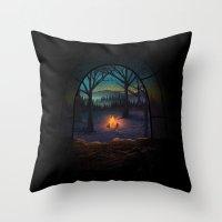 Bonfire Throw Pillow