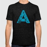 A is for Angelfish - Animal Alphabet Series Mens Fitted Tee Tri-Black SMALL