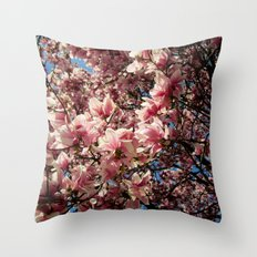 Partially Pink Throw Pillow