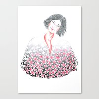Yozakura Canvas Print