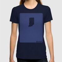 Indiana Minimalist Vinta… Womens Fitted Tee Navy SMALL