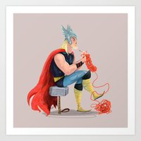 Skills (Thor) Art Print