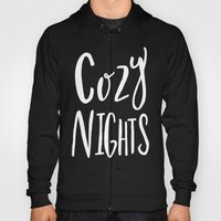 Cozy Nights - Hand lettered Art Typography Hoody
