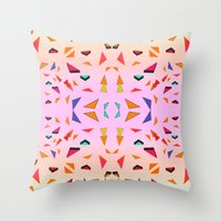 Triangle Tropical Confetti  Throw Pillow