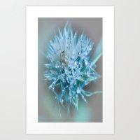 blue faery wand Art Print
