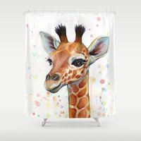 Giraffe Baby Shower Curtain