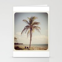 Palm Tree Water Tropical… Stationery Cards