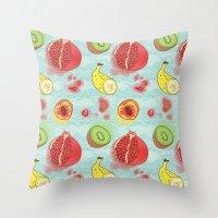 Fruit Cross-sections Throw Pillow